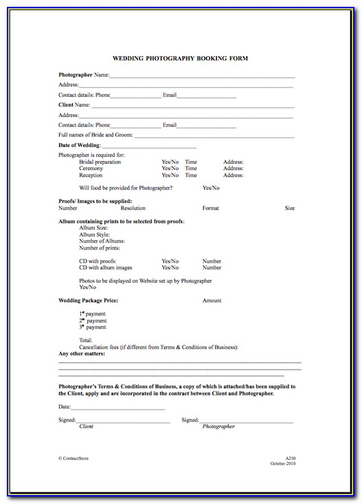 Photography Consent Form Template Uk