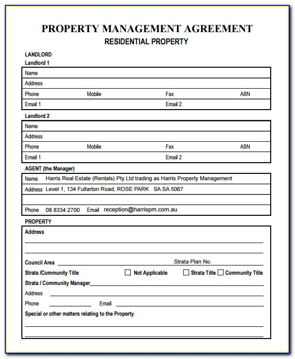 Property Management Forms Templates