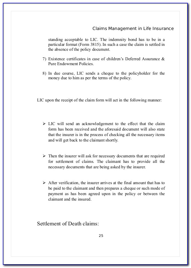 Reliable Life Insurance Death Claim Forms