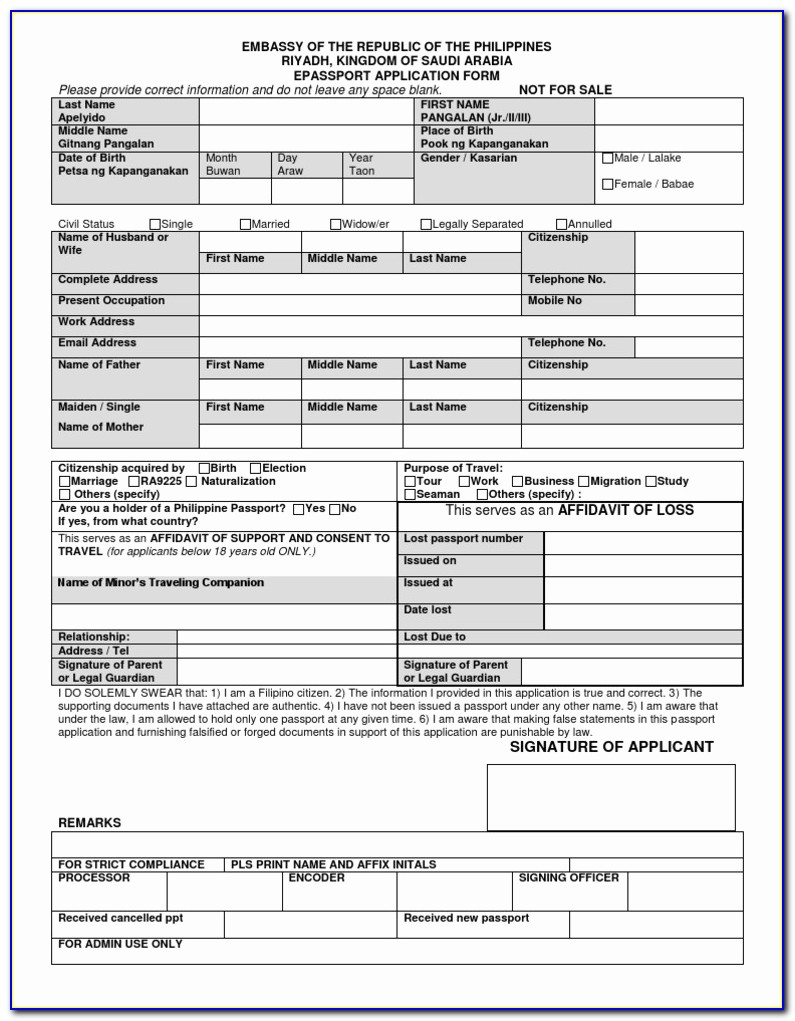 Passport Renewal Online Application Form E Passport Application Form Riyadh