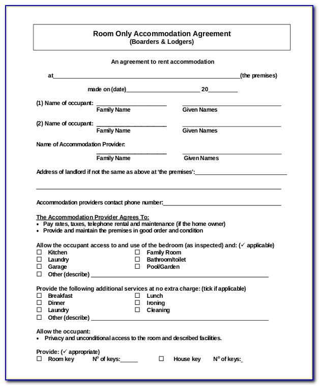 Simple Rental Agreement Format