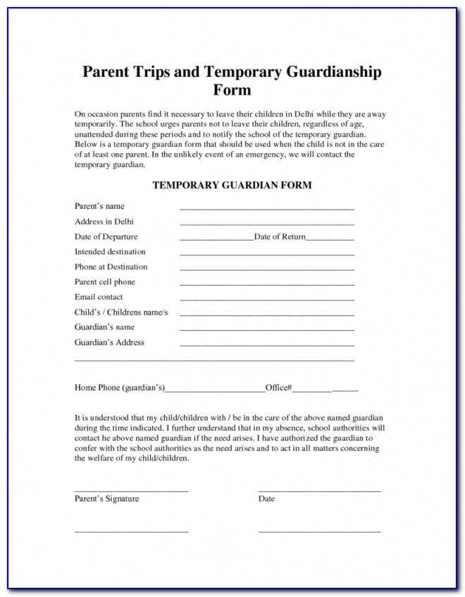 Temporary Guardianship Form For Grandparents Dolapmagnetbandco Throughout Temporary Guardianship Agreement Form