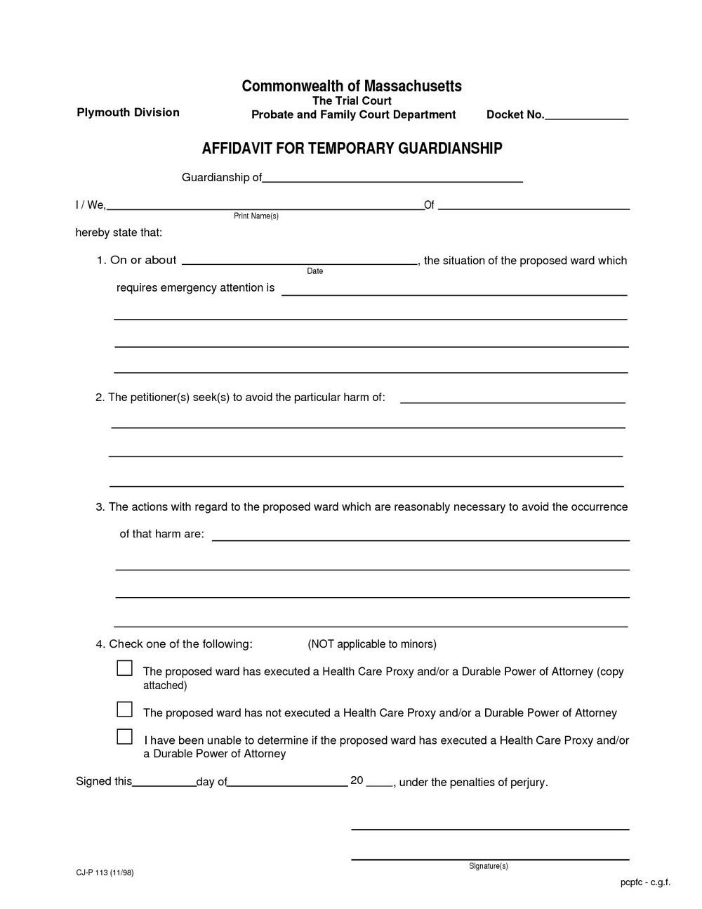 Texas Guardianship Forms Free