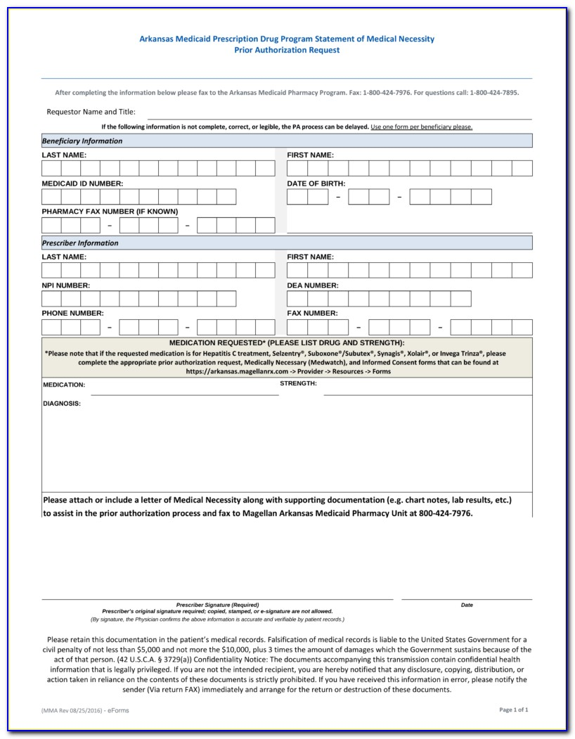 Wellcare Medicare Part D Medication Prior Authorization Form