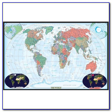 24x36 Inch World Map