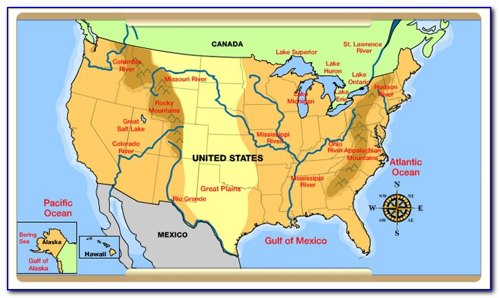 8 Geographic Regions Of The United States Map - Maps ...