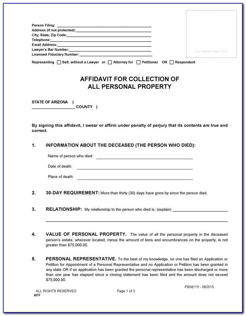 Affidavit Form Zimbabwe Pdf Free Download