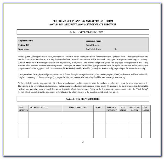 Annual Performance Appraisal Form Pdf