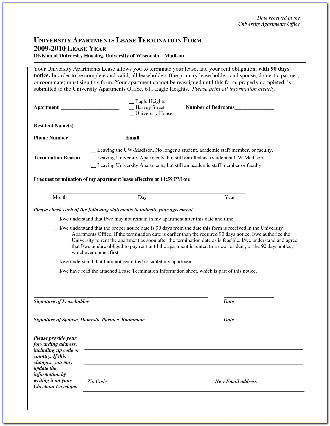 Apartment Leasing Contract Sample