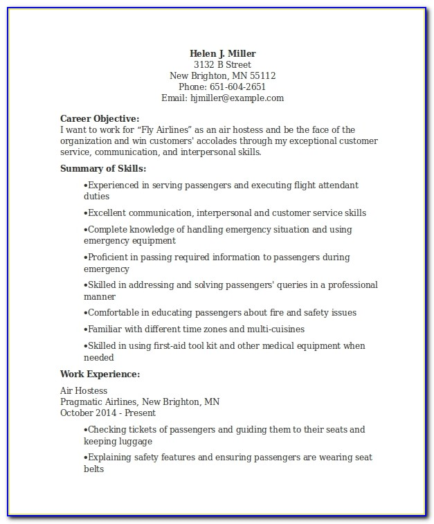 Application Letter For Air Hostess Job - Job Applications ...