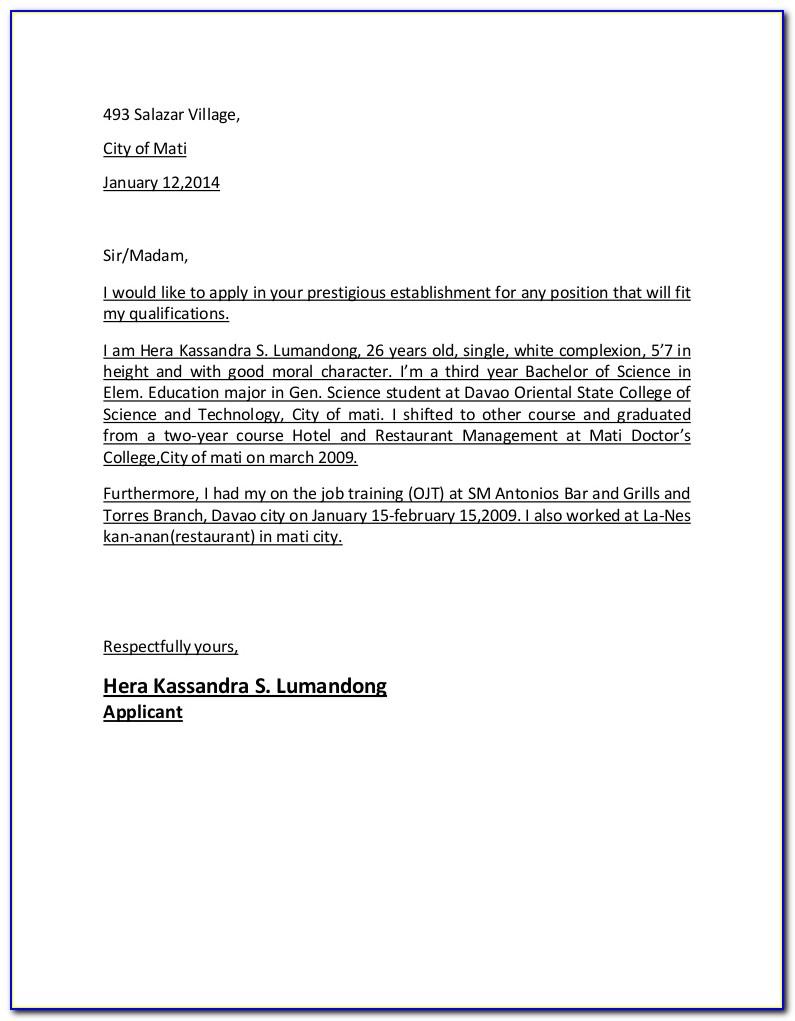 Application Letter For Doctor Job At Chicago