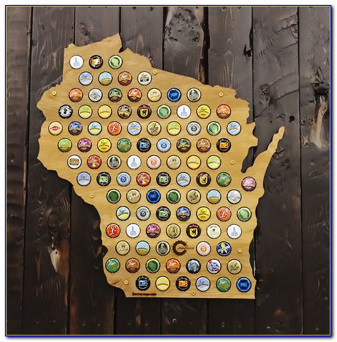 Beer Bottle Cap Map Canada