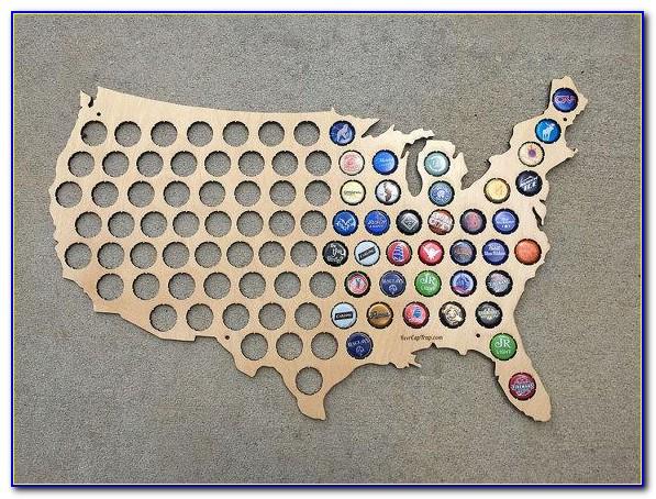 Beer Bottle Cap Map Uk