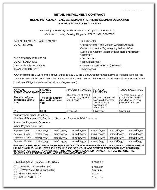 Commercial Addendum To Retail Installment Contract Form 508