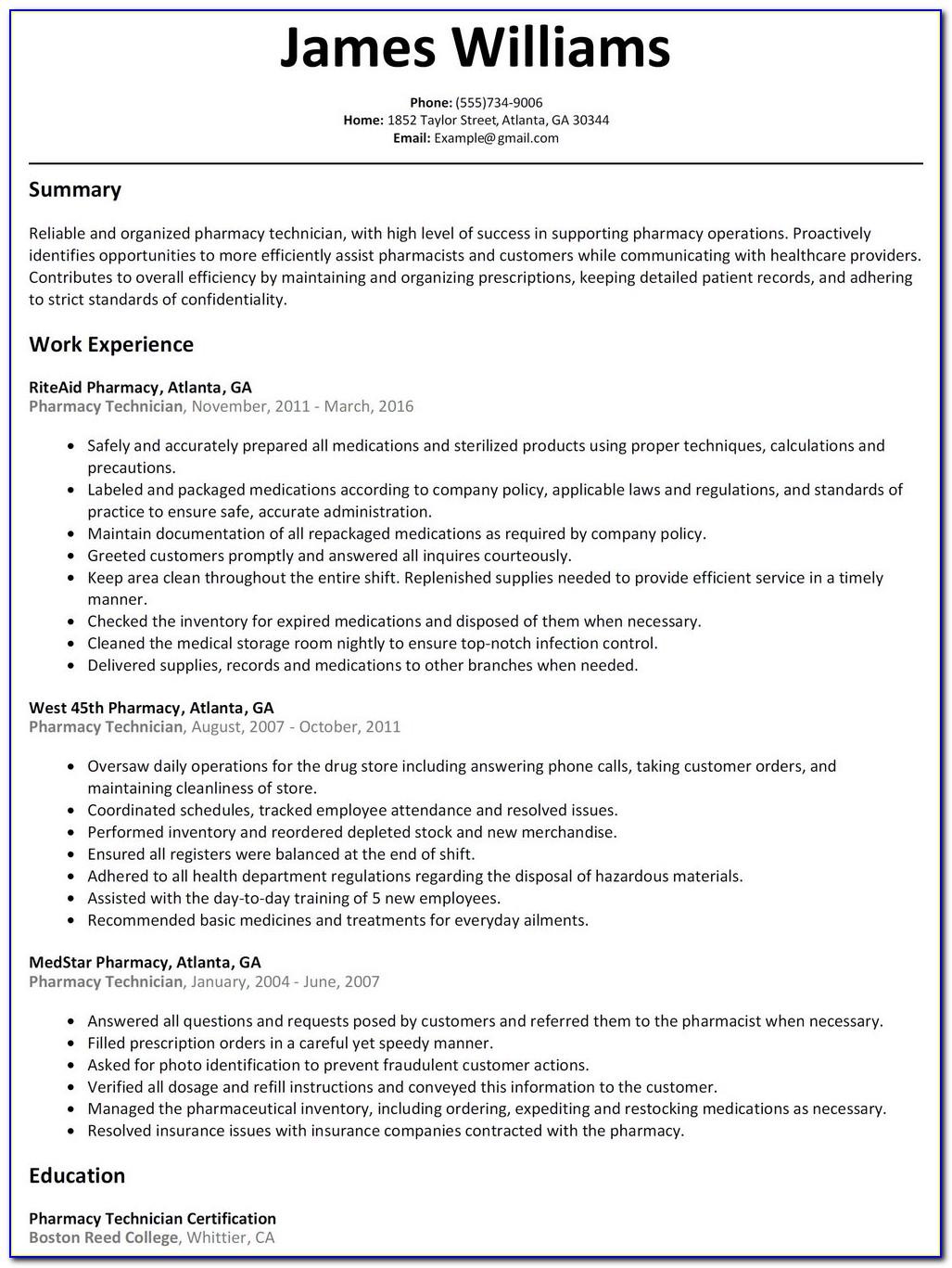 Cvs Pharmacy Technician Job Application - Job Applications ...