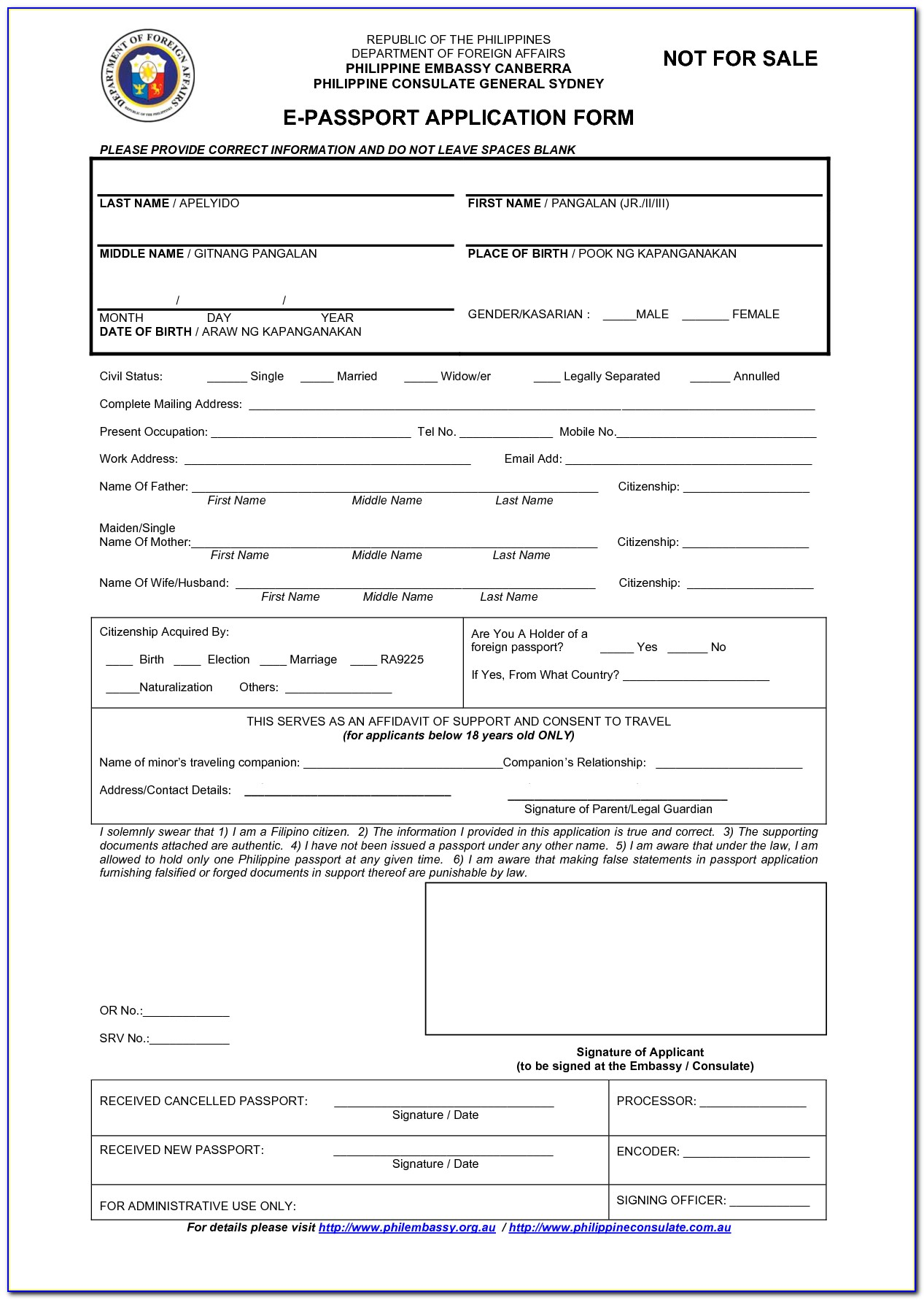 Dfa Application Form For Lost Pport - Form : Resume ... on