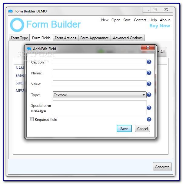 Dynamic Form Builder Angular 6