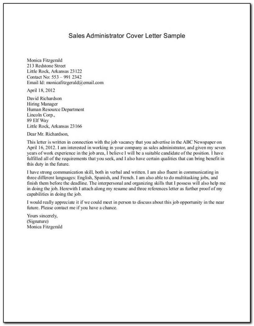 Example Of Application Letter For Hotel And Restaurant - Job ...