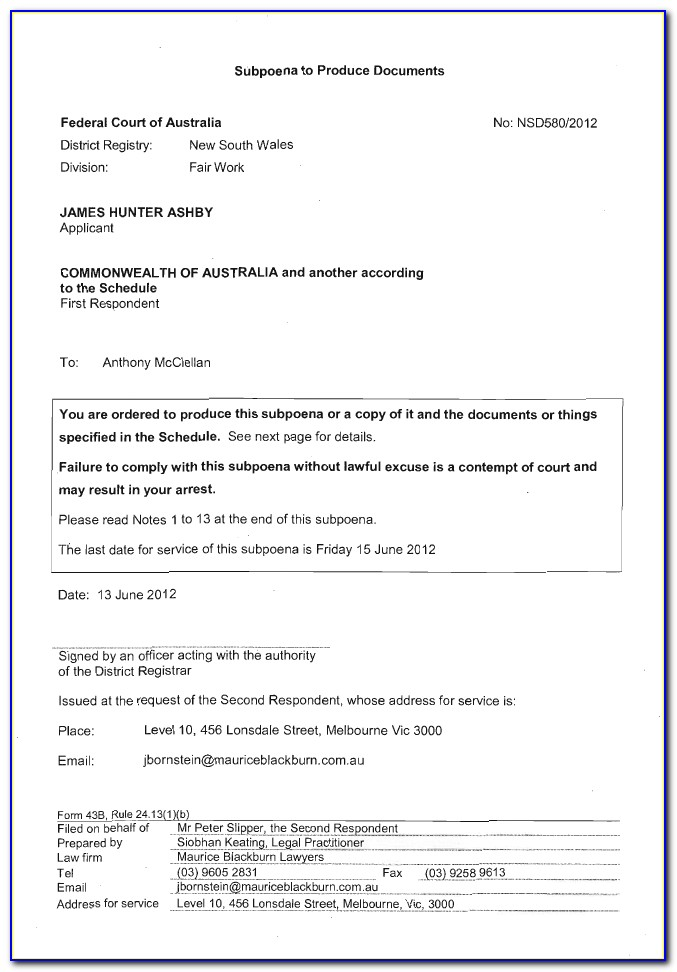 Free Affidavit Form Download Australia
