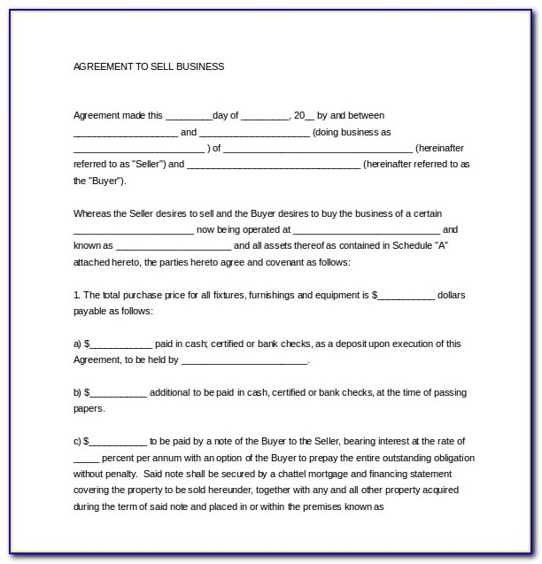10 Sales Agreement Templates Free Sample Example Format Business Sale Agreement Template Free Download
