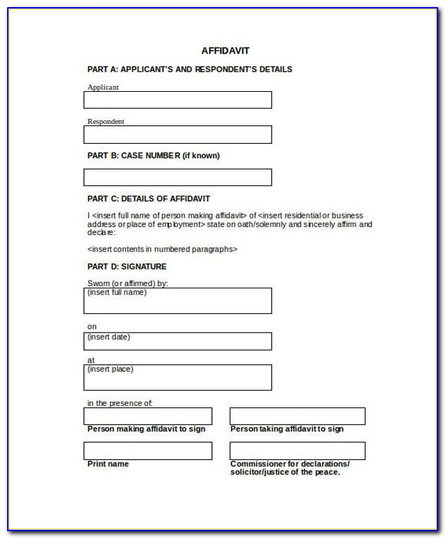 Free Download Affidavit Form Zimbabwe