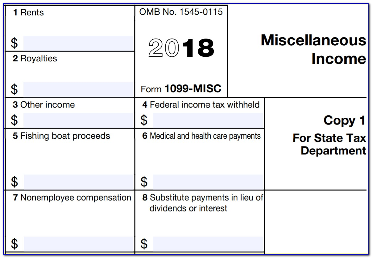 Free Form 1099 Misc 2017