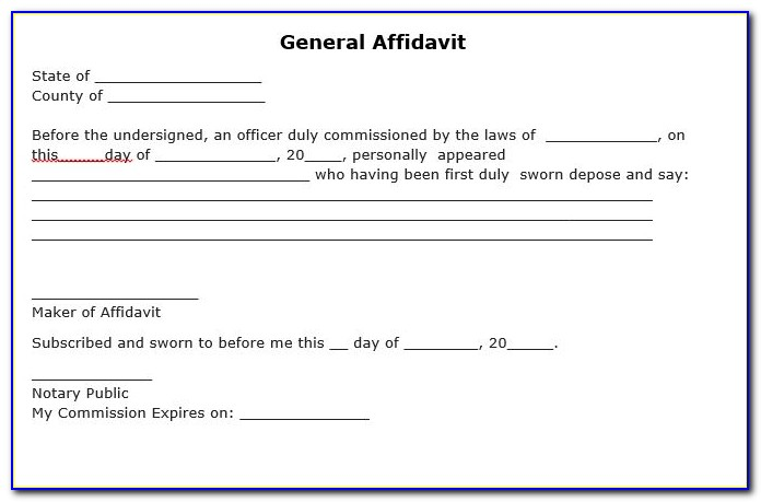 Free General Affidavit Form Download South Africa