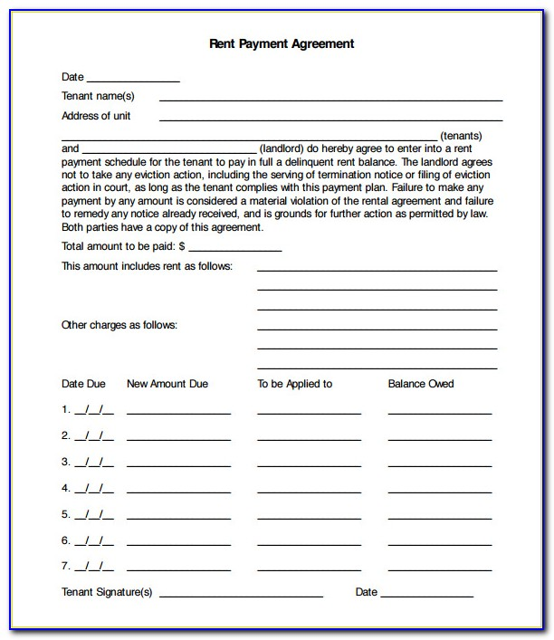 Free Installment Payment Agreement Form