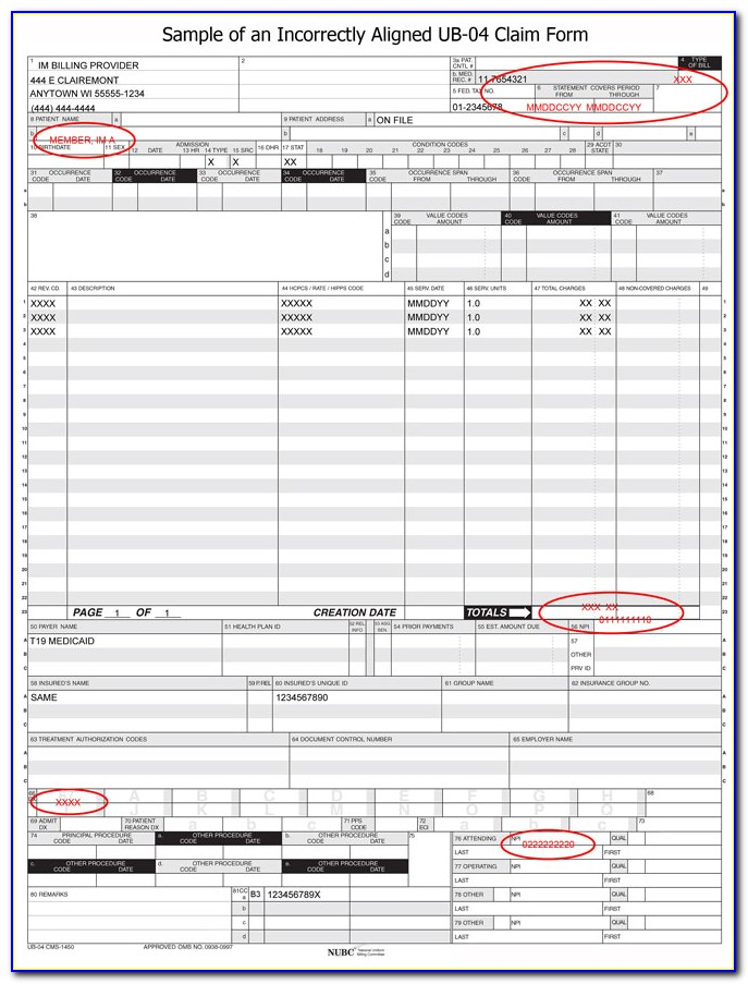 Free Red Ub 04 Form Download