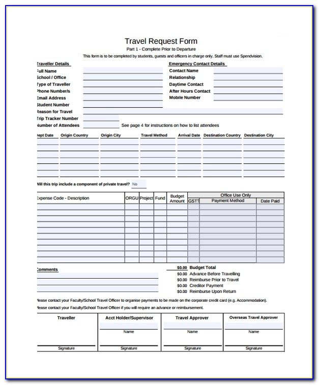 Sample Travel Request Form 9 Free Documents Download In Pdf Word Travel Request Template Travel Request Template