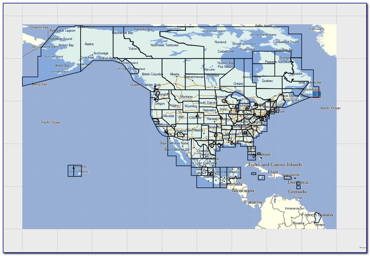 Garmin North America Maps Coverage