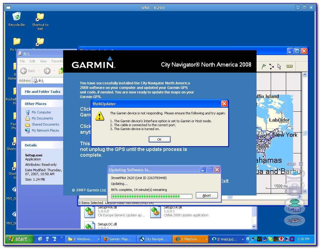 Garmin Streetpilot C340 Map Update