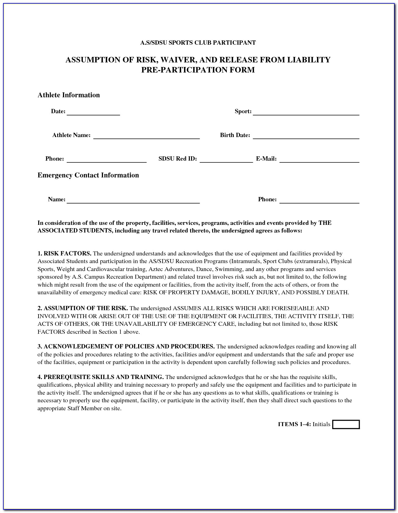 Doc650726 Doc575709 General Release Of Liability Form Template