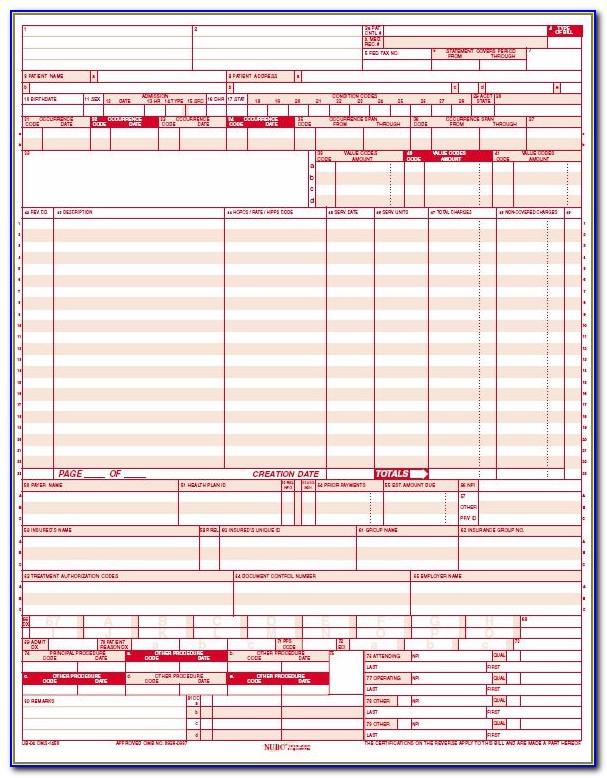 Hcfa 1500 Claim Form Free Download