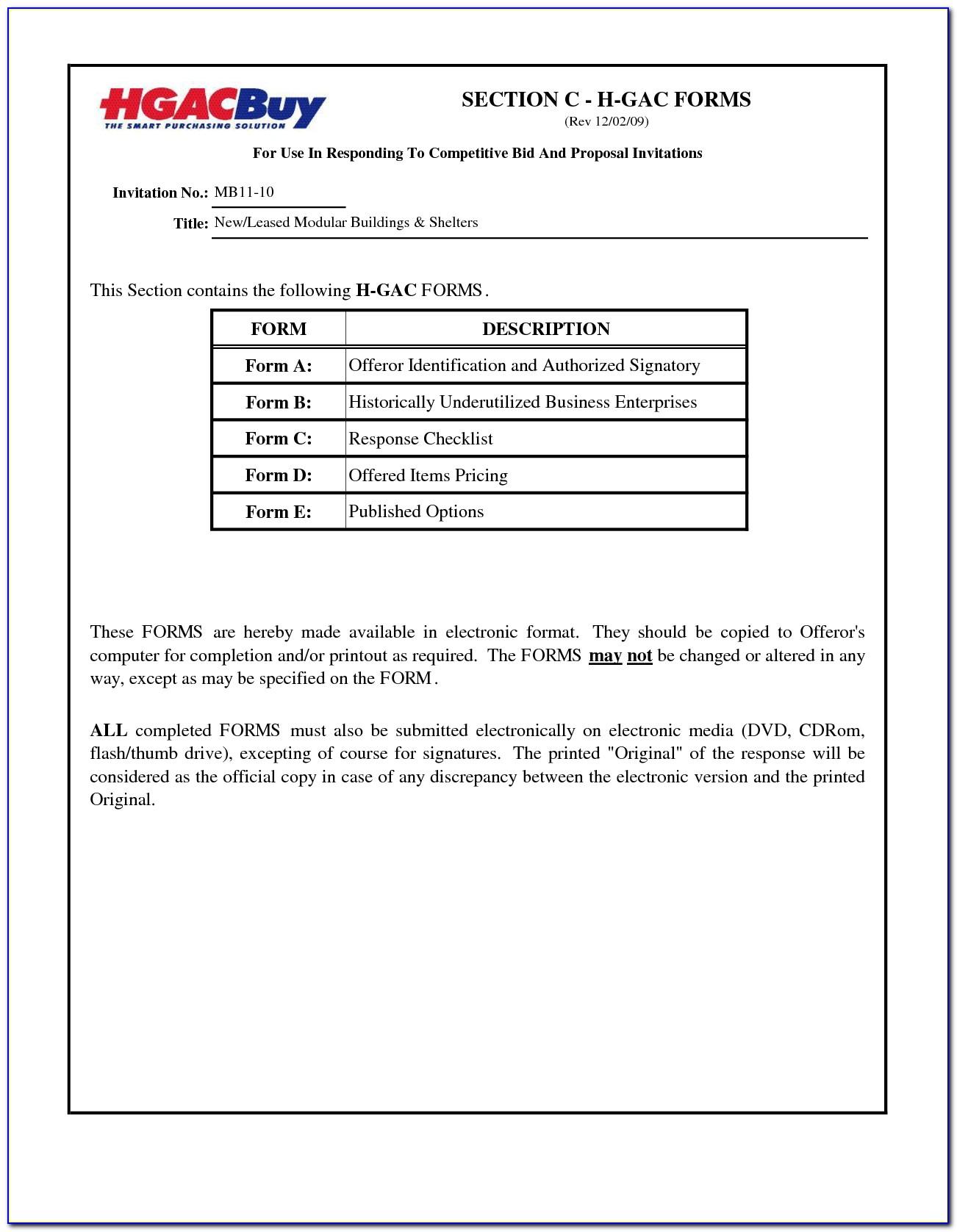 Hvac Bid Proposal Forms