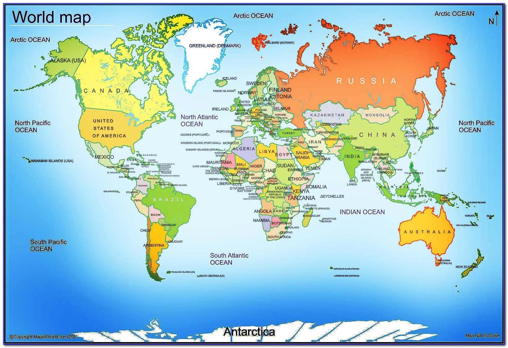 Large Printable World Map Pdf
