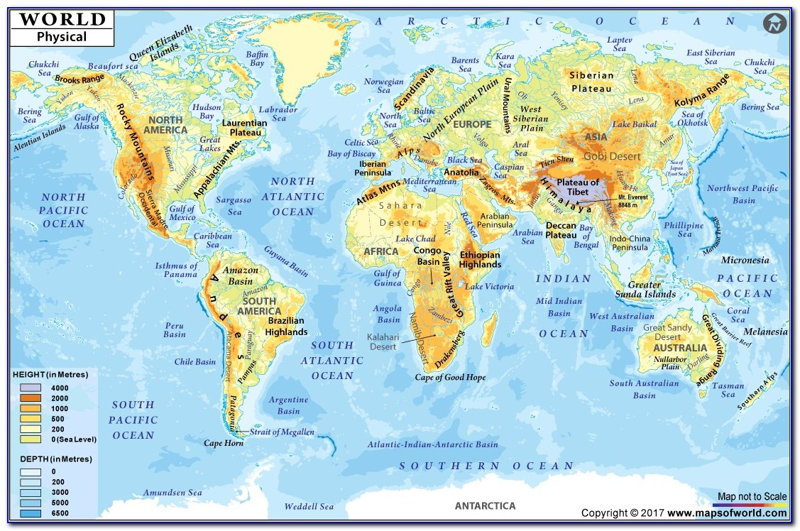 Large Printable World Map Pdf Best Of World Physical Map