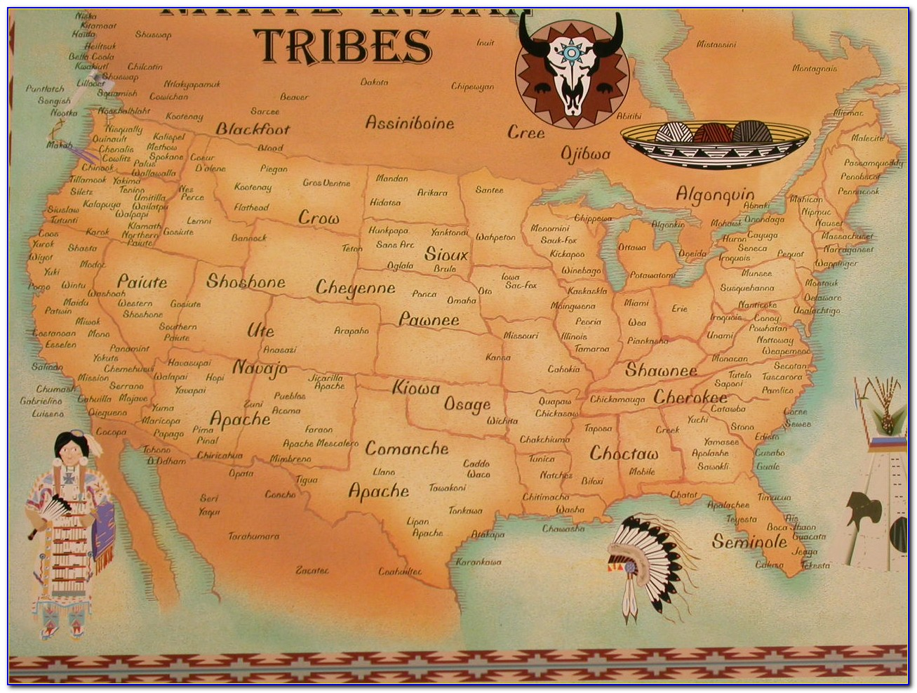 Map Of Native American Tribes Pre Colonization - Maps ...