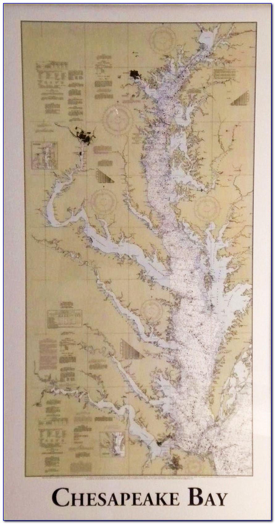 Marine Map Of Chesapeake Bay