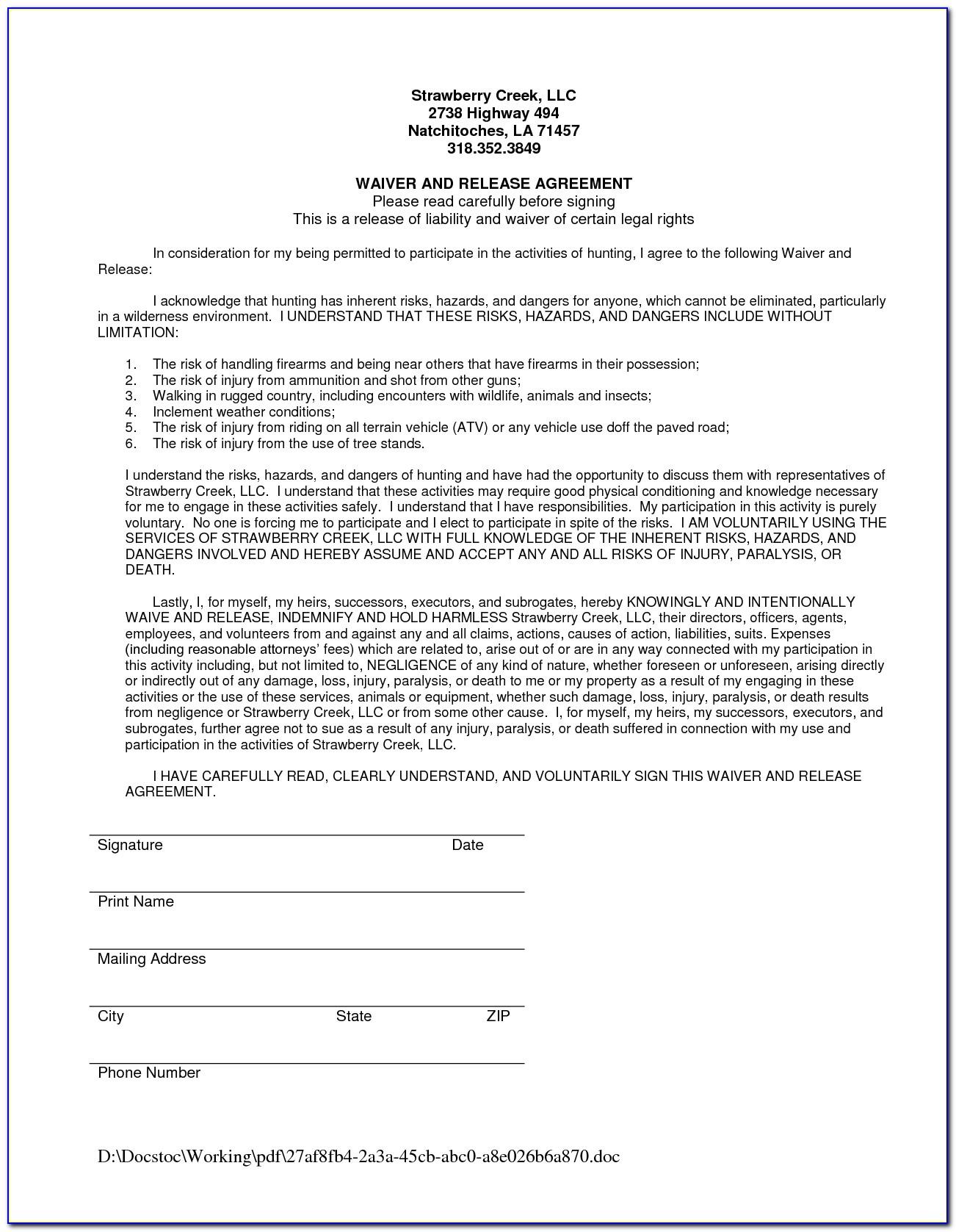 Medicare Advantage Plan Waiver Of Liability Form