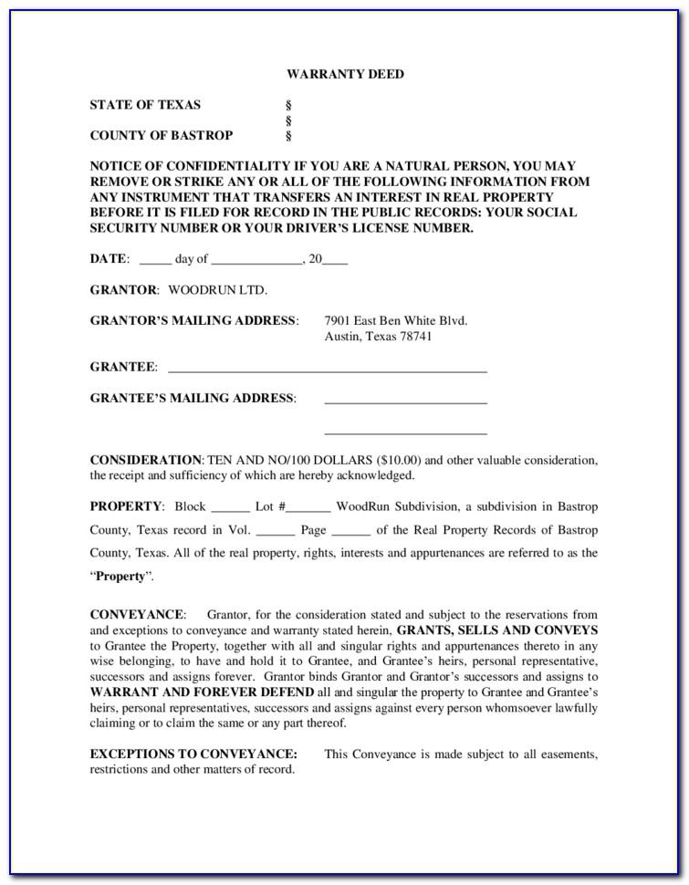 Mineral Deed Form Oklahoma