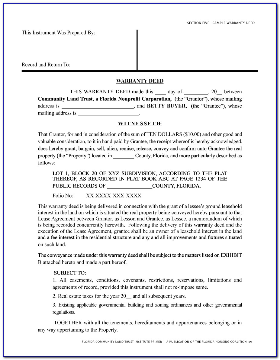Oklahoma Warranty Deed Form Free Download