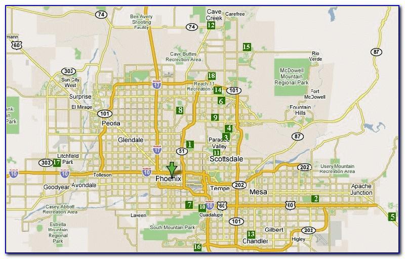 Phoenix Open Golf Course Map
