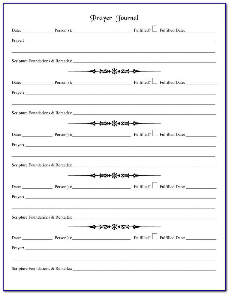 Prayer Request Form Template