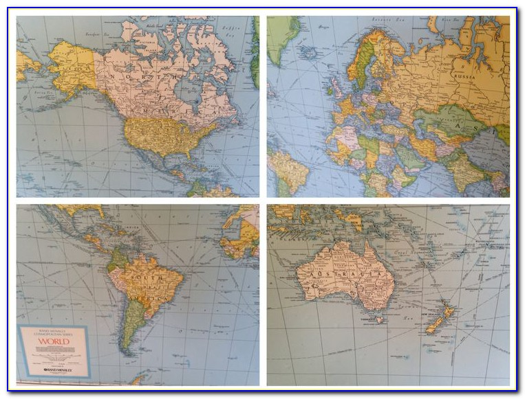 Rand Mcnally World Map Canvas