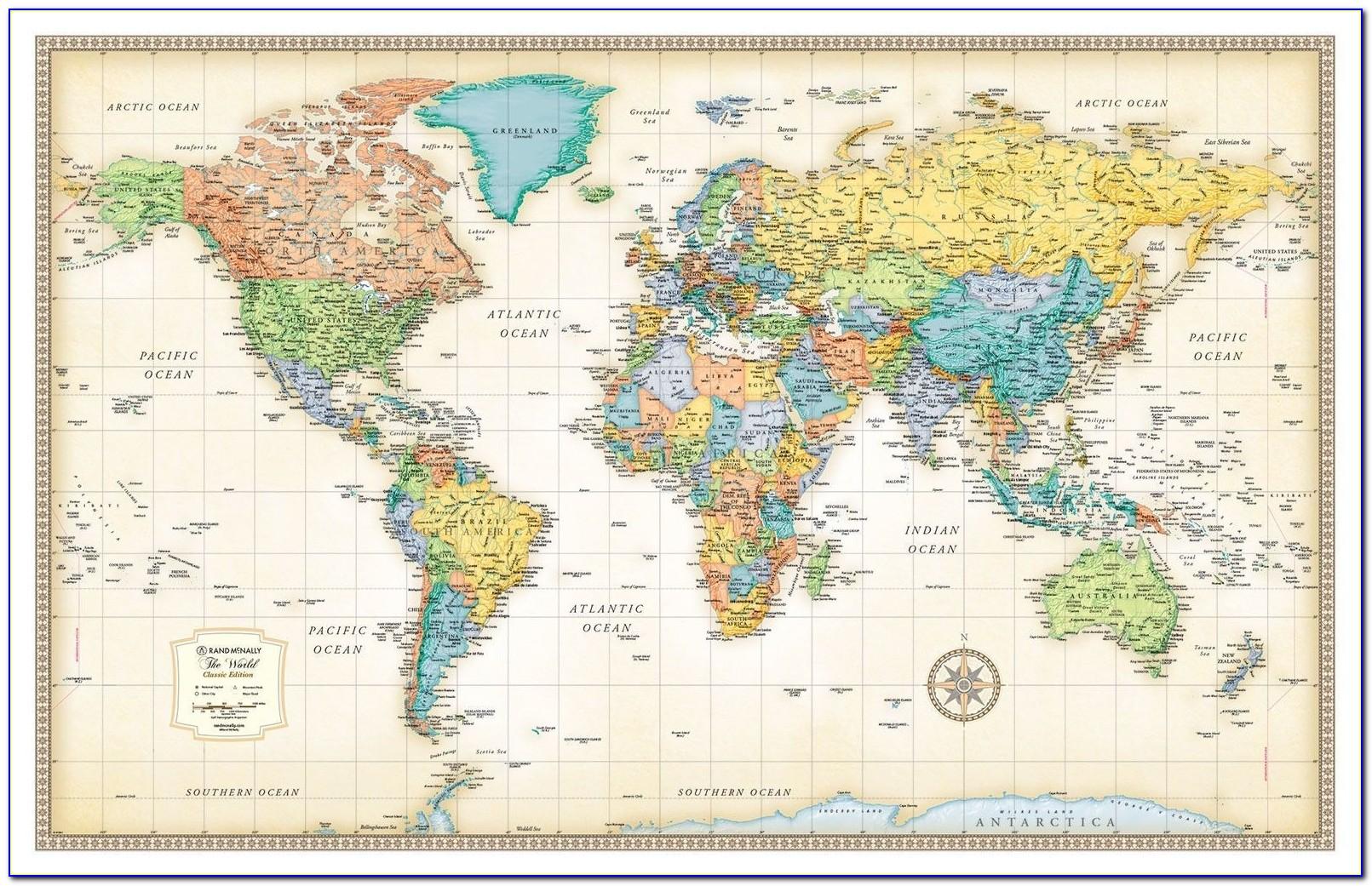 Rand Mcnally World Map Puzzle