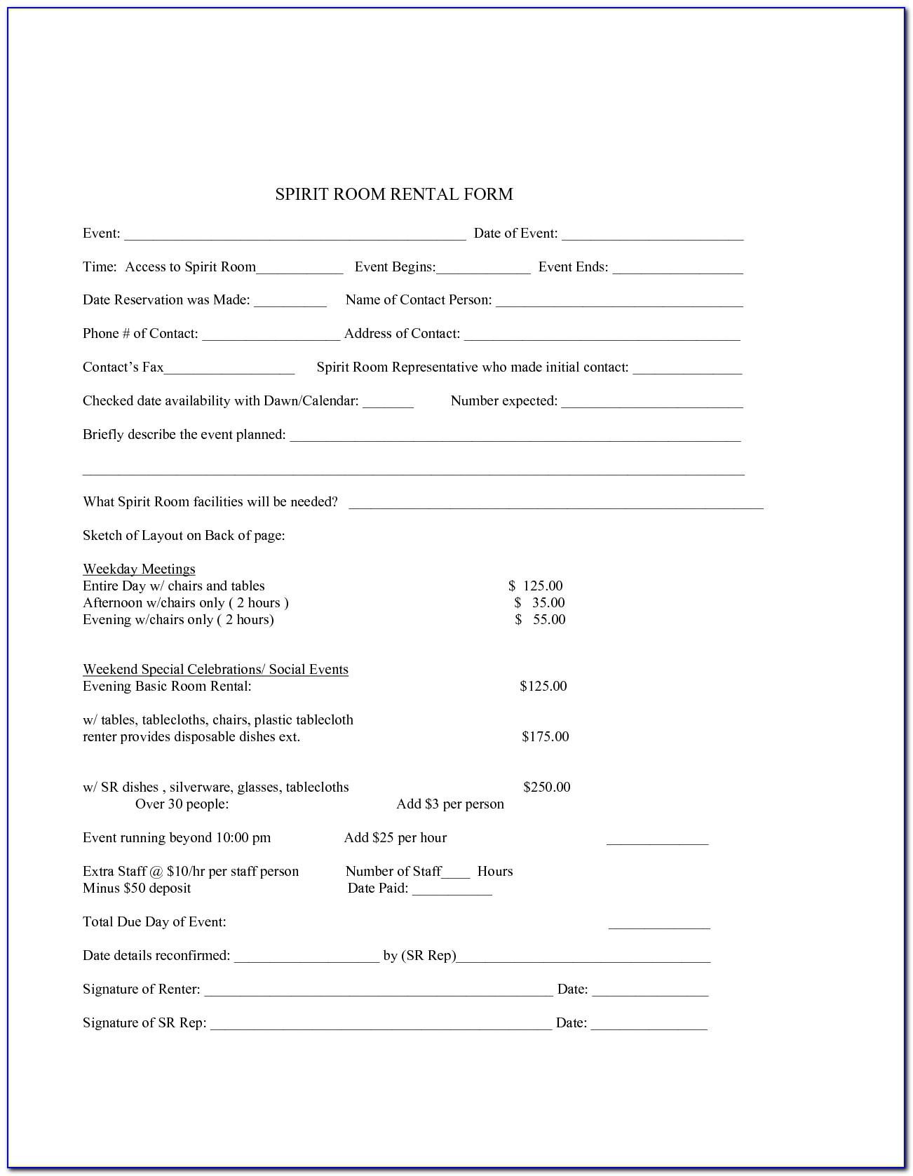 Room Rental Contract Sample Malaysia