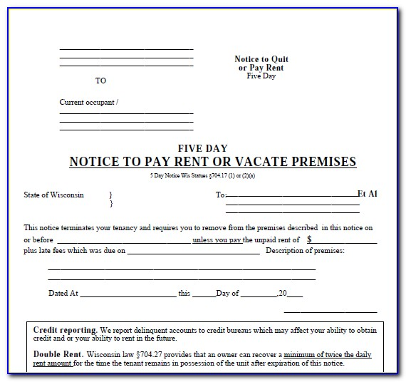 Sc 5 Day Eviction Notice Form
