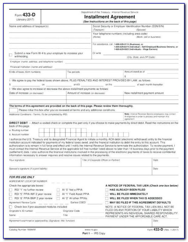 Texas Retail Installment Contract Form