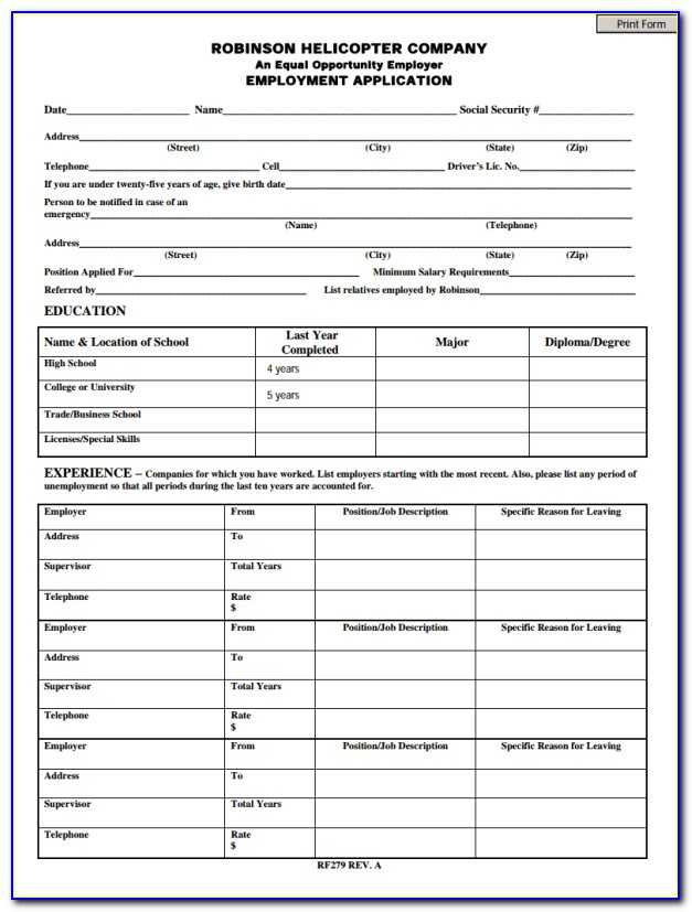 Tractor Supply Job Application Printable